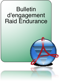 Bulletin d'engagement Raid Endurance